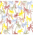 coconut palm tree pattern textile seamless vector image