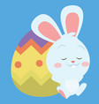 collection of easter egg style with bunny vector image vector image