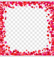 color paper heart frame background heart frame vector image vector image