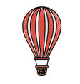 colored crayon silhouette of hot air balloon vector image vector image