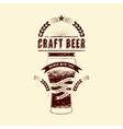 Craft beer label Vintage grunge beer poster vector image vector image