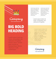 crown business company poster template with place vector image