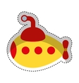 cute submarine toy isolated icon vector image vector image