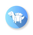 dinosaur 3d puzzle toy blue flat design long vector image