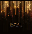 elegant royal background with golden bars effect vector image