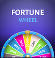 fortune wheel poster with earnings in 5000 dollars vector image vector image