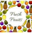 Garden and exotic fruits poster vector image vector image