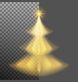 golden shining christmas tree eps 10 vector image