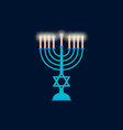 happy hanukkah hanukkah candles flat design vector image vector image