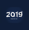 happy new year 2019 text design background vector image