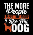 i like my dog cats and dogs t shirt vector image vector image