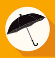 icon umbrella on white circle with a long shadow vector image vector image