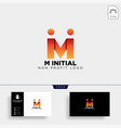 letter m creative business logo template icon vector image