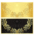 Luxury golden gift certificate in vintage style vector image vector image