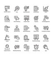 market and economic line icons vector image vector image