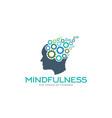 mindfulness brain imagination logo vector image vector image