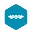 monorail train icon simple style vector image vector image