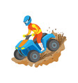 person on atv quad biking freedom driving vector image