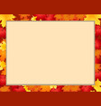 photo frame with fallen autumn maple leaves with vector image