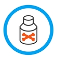 Poison Bottle Rounded Icon vector image vector image