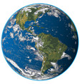 realistic earth vector image