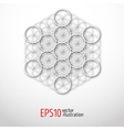 Sacred Geometry Metatron s cube mysterious vector image vector image