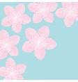 Sakura flowers Japan blooming cherry blossom Blue vector image vector image