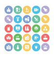 Science Colored Icons 4 vector image vector image