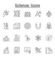 science icon in thin line style vector image