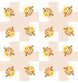 Seamless orange owl pattern for kids vector image