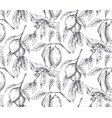 Seamless pattern with hand drawn fresh