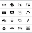 set of 16 editable passion icons includes symbols vector image vector image
