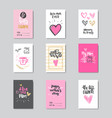 set of greeting cards for happy mother day holiday vector image vector image