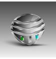 Shiny futuristic emblem vector image