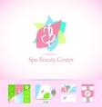 Spa beauty center abstract sign logo icon design vector image vector image