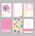 spring flowers stationary pages vector image