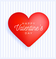 square flyer happy valentine day greeting banner vector image vector image