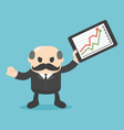 Successful business with a growing chart vector image vector image
