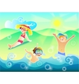 Sun air and water are our best friends vector image