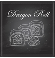 sushi sketch Dragon roll vector image vector image