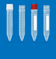 test tubes on a blue background vector image
