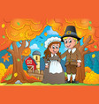 thanksgiving theme image 7 vector image vector image