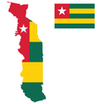 Togolese Flag vector image vector image