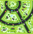 top view city map with streets and buildings vector image vector image