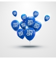 Trendy beautiful background with blue baloons and vector image vector image