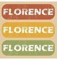 Vintage Florence stamp set vector image