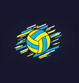 volleyball modern abstract sports banner vector image vector image