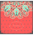 Invitation card on red background with lace vector image