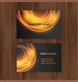 dark modern business card design template vector image