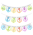 2014 isolated bunting flags decoration elements vector image vector image
